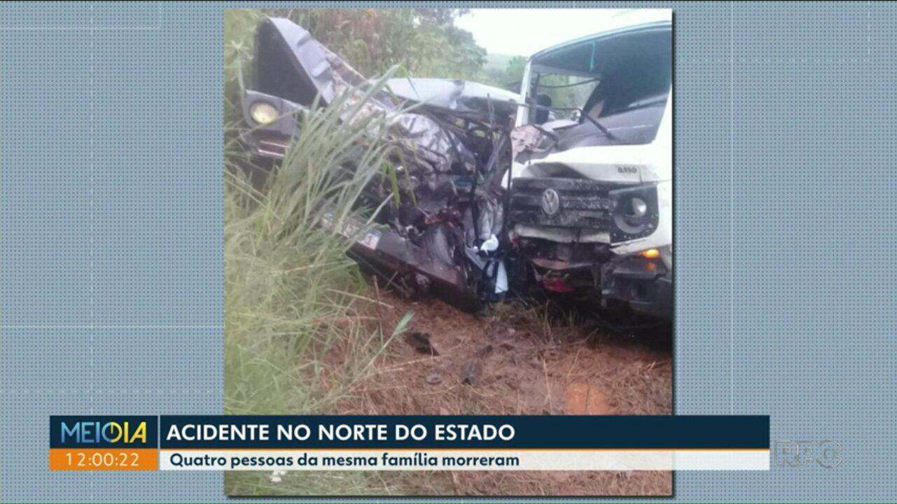 287b4348e Quatro pessoas da mesma família morrem em acidente no norte do estado - G1  Paraná - vídeos - Catálogo de Vídeos