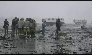 Avião cai no sul da Rússia e mata 62 pessoas