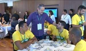 Atletas que vão brilhar nos Jogos Paralímpicos do Rio fazem visita aos Estúdios Globo