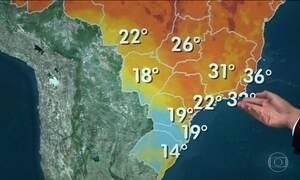 Frente fria ameniza temperaturas em parte do Brasil