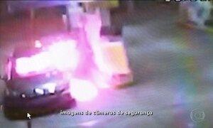 Bandido tenta assaltar posto e termina com corpo em chamas no RJ