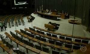 Plenário da Câmara ficou vazio na quinta-feira (19)