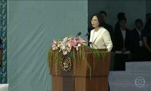 Primeira mulher presidente de Taiwan toma posse nesta sexta-feira (20)