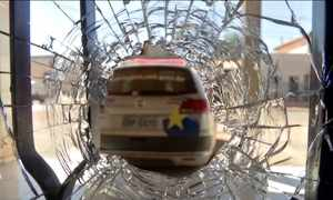 Bandidos incendeiam delegacia e atacam bases da PM e ônibus em MT