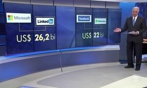 Microsoft compra por 26 bilhões de dólares a rede social Linkedin