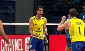 Brasil derrota Argentina na Liga Mundial de Vôlei