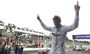 Nico Rosberg vence o GP da Europa de F1 nas ruas de Baku, no Azerbaijão