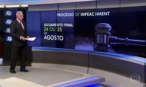 Comissão especial do impeachment aprova novo calendário de trabalho
