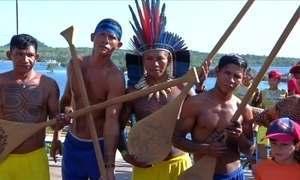 Jogos indígenas atraem e encantam turistas