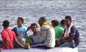 Cresce o número de imigrantes que chegam à Itália