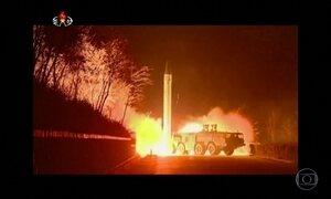 Japão e Coreia do Sul condenam lançamento de mísseis pela Coreia do Norte