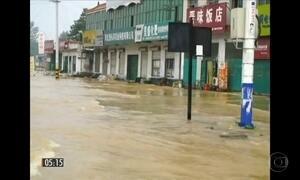 Temporais causam enchente e destruição