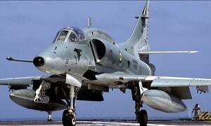 Marinha investiga se piloto de caça conseguiu se ejetar antes da queda de avião