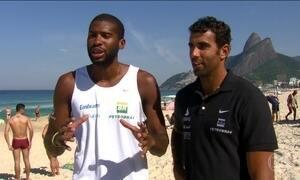 Pedro e Evandro são grandes apostas para o vôlei de praia na Olimpíada