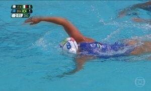 Brasil perde para a Itália na estreia do polo aquático feminino
