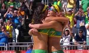 Larissa e Talita vencem a Polônia no vôlei de praia