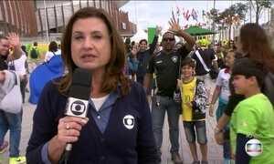 Torcedores animam Parque Olímpico no Rio