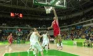 Brasil perde para a Croácia no basquete masculino
