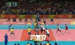 Seleção masculina de vôlei sofre a primeira derrota