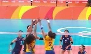 Brasil tem a quarta vitória seguida contra a Coreia do Sul no vôlei feminino