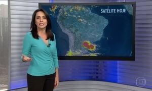 Previsão de chuva com raios para o Sul nesta segunda (15)