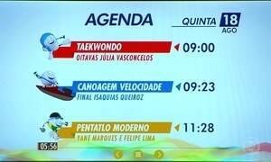 Confira a programação do Brasil nos Jogos desta quinta-feira (18)