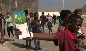 Parque Olímpico recebe grupo especial de visitantes
