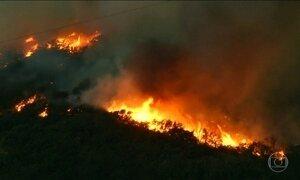 Incêndio florestal força 80 mil pessoas a saírem de casa na Califórnia