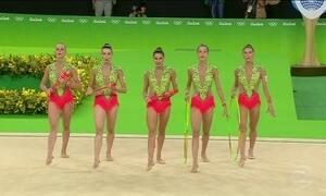 Conjunto brasileiro fica fora da final na ginástica rítmica