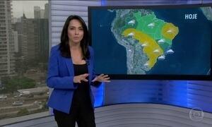 Veja a previsão do tempo para esta segunda-feira (22) em todo o Brasil