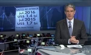 Despesas de brasileiros no exterior caem 20% em julho