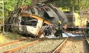 Trem descarrila e deixa quatro mortos na Espanha