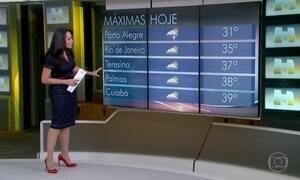 Previsão é de tempo quente na maior parte do Brasil