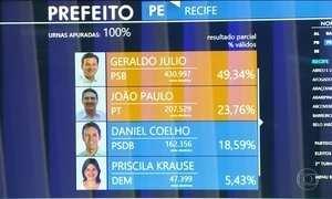 Geraldo Julio (PSDB) e João Paulo (PT) disputam segundo turno em Recife