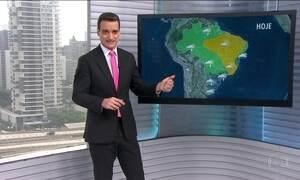 Veja a previsão do tempo para esta quinta-feira (13) em todo o Brasil