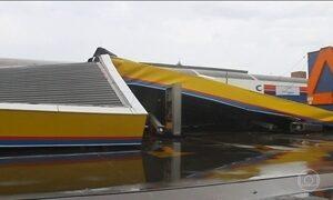 Ventos de quase 100 km/hora provocam morte de uma criança em SC
