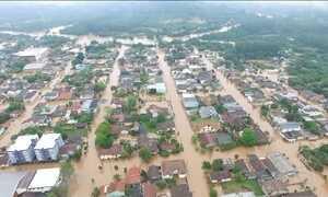 Chuvas no Sul mantêm rodovias interditadas e Defesa Civil em alerta