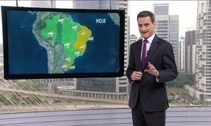Veja a previsão do tempo para esta segunda-feira (24) em todo o Brasil