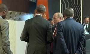 Barack Obama se encontra com Vladimir Putin no Peru