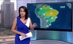 Veja a previsão do tempo para esta segunda-feira (28) em todo o Brasil