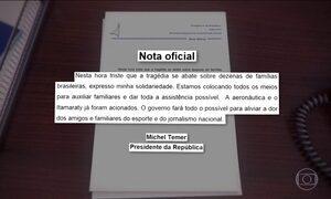 Michel Temer decreta luto oficial de três dias no Brasil