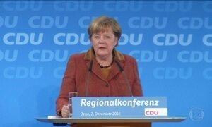 Partido de Merkel deve confirmar candidatura da premiê pela 4ª vez seguida na Alemanha