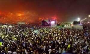 Veja os fogos do Réveillon de Copacabana em 360°