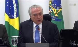 Michel Temer discute o sistema carcerário no Brasil em reunião nessa quarta