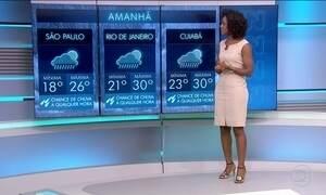 Confira a previsão do tempo para o sábado (21) em todo o país