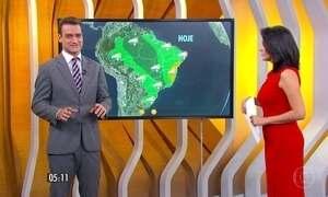 Confira a previsão do tempo para a segunda-feira (23)