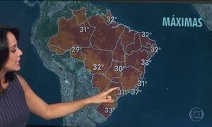 Semana começa com calor em grande parte do Brasil