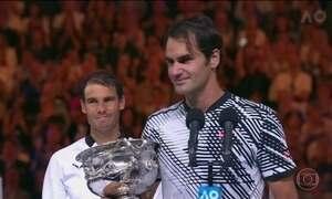 Federer vence Nadal no Grand Slam de Tênis