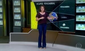 Eclipse lunar penumbral poderá ser visto em quase todo Brasil