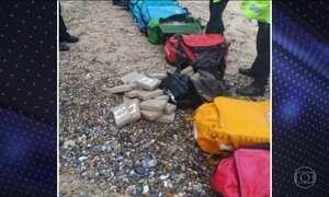 Pacotes com quase 400 kg de cocaína pura apareceram no  Reino Unido